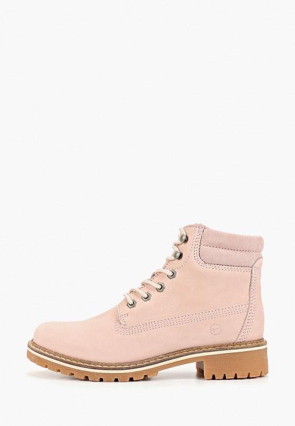 женские ботинки tamaris, розовые