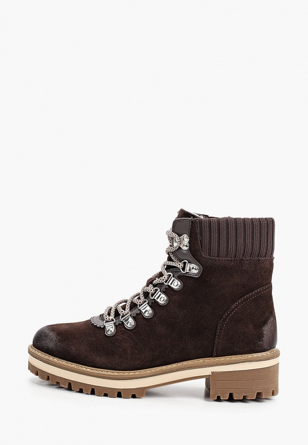 женские высокие ботинки tamaris, коричневые