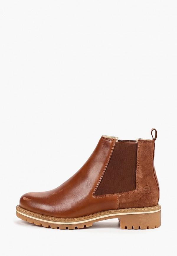 Фото - Женские ботинки и полуботинки Tamaris коричневого цвета