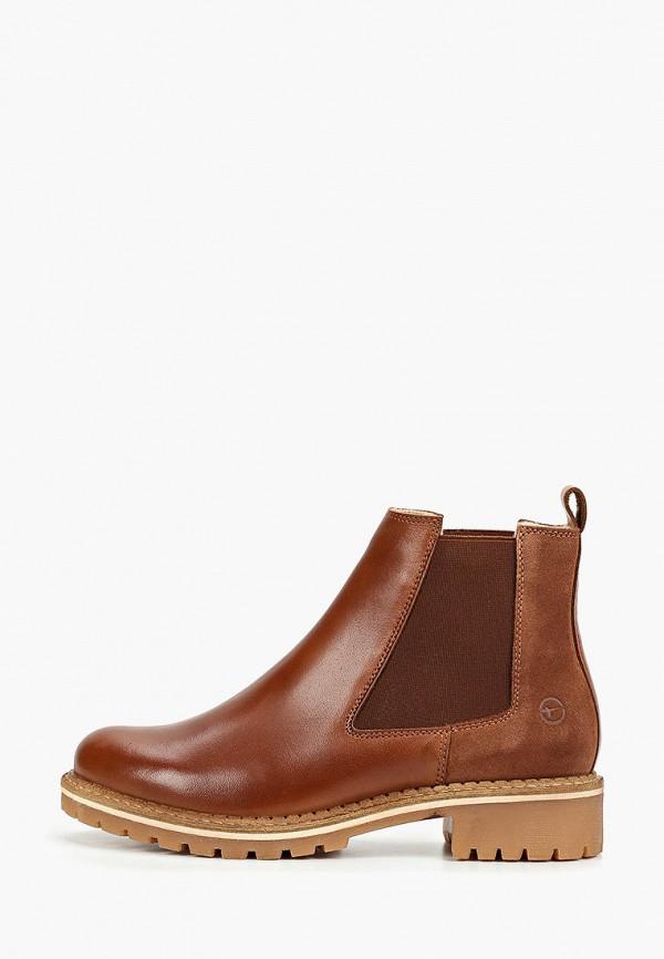 Фото 7 - Женские ботинки и полуботинки Tamaris коричневого цвета