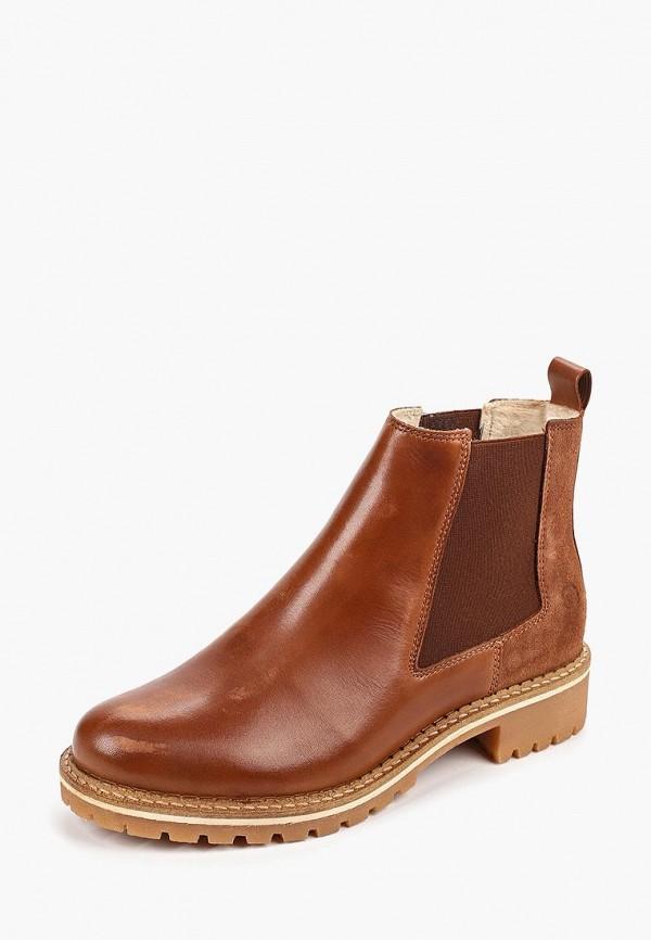 Фото 2 - Женские ботинки и полуботинки Tamaris коричневого цвета