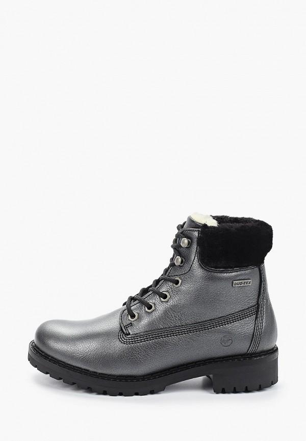 женские высокие ботинки tamaris, серые