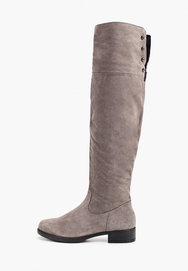 женские ботфорты tamaris, серые