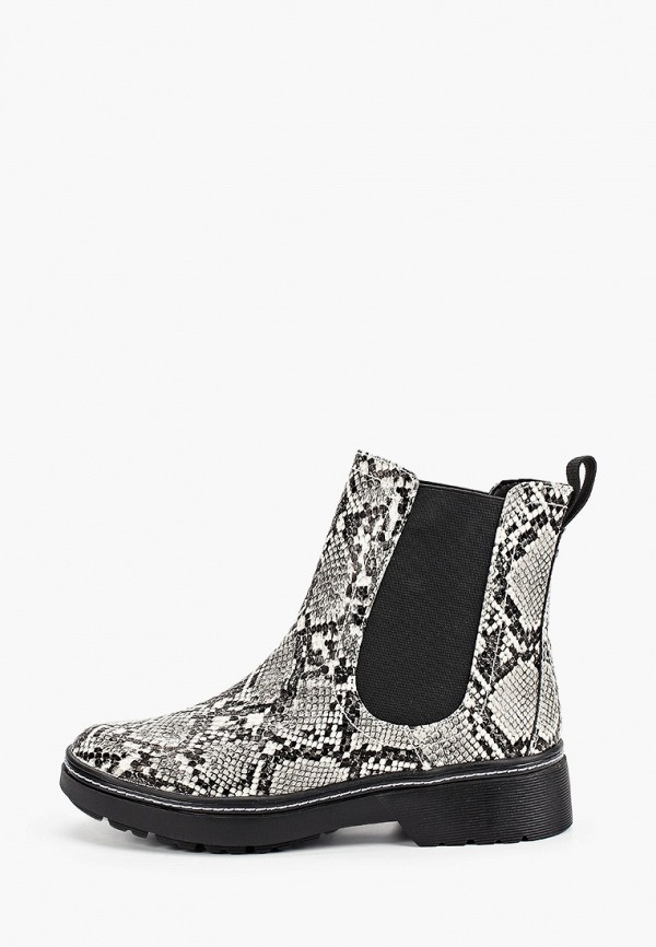 женские ботинки-челси tamaris, серые