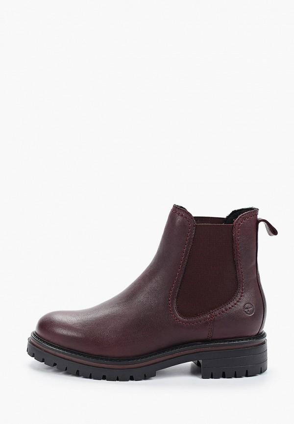 женские ботинки tamaris, бордовые