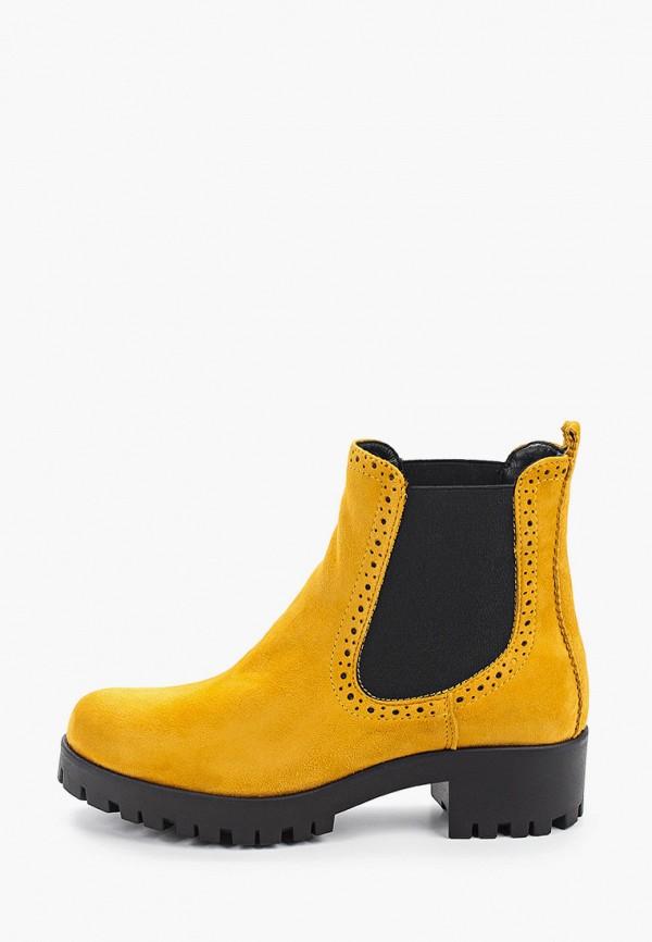 женские ботинки-челси tamaris, желтые