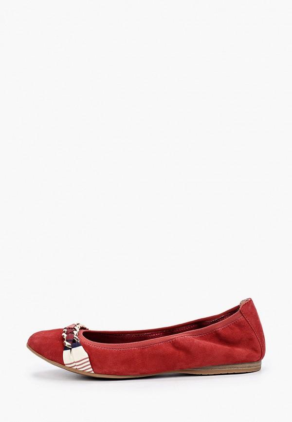 женские балетки tamaris, бордовые