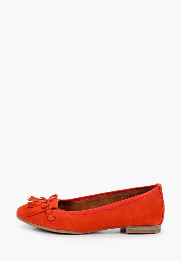 женские балетки tamaris, оранжевые