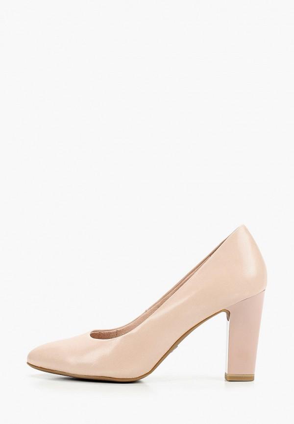 женские туфли с закрытым носом tamaris, розовые