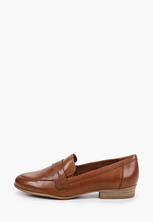 женские лоферы tamaris, коричневые