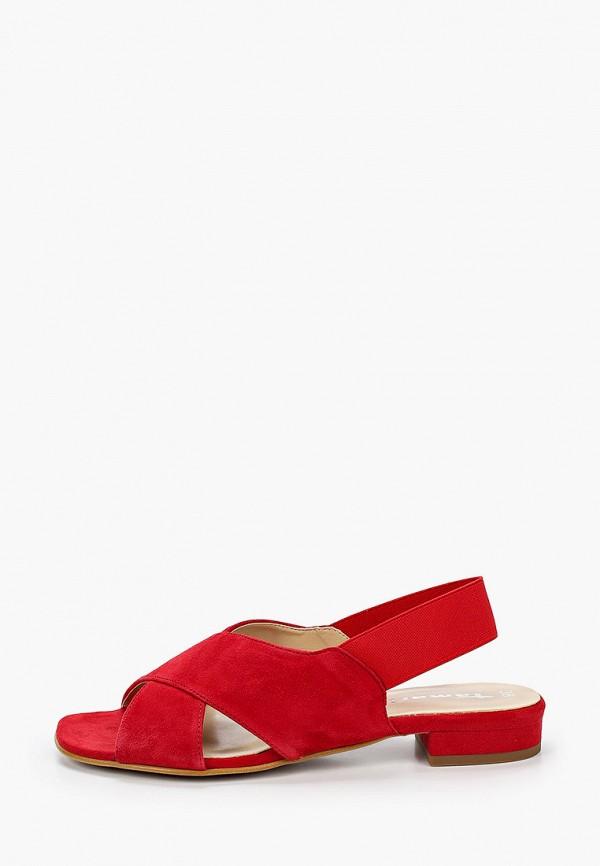 женские сандалии tamaris, красные