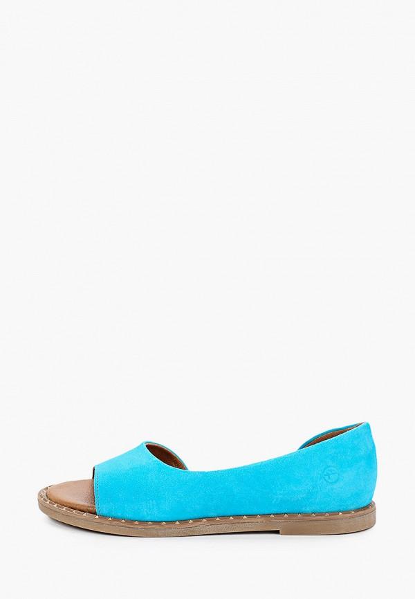 женские сандалии tamaris, голубые