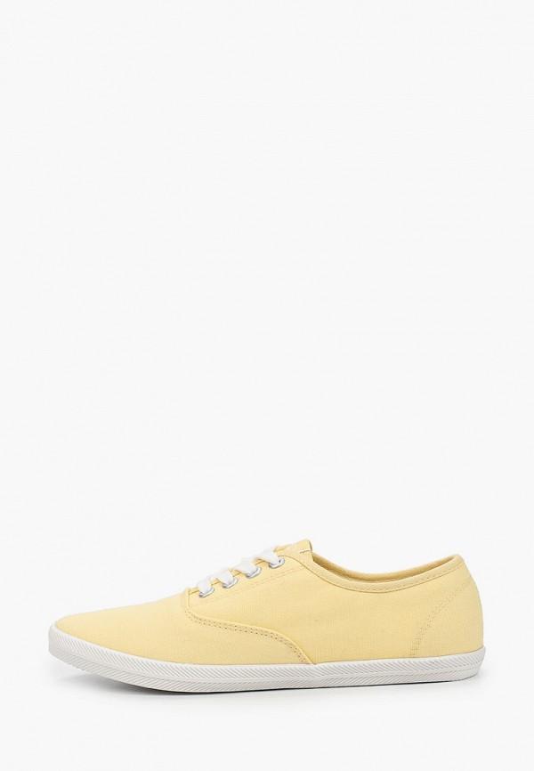 женские низкие кеды tamaris, желтые