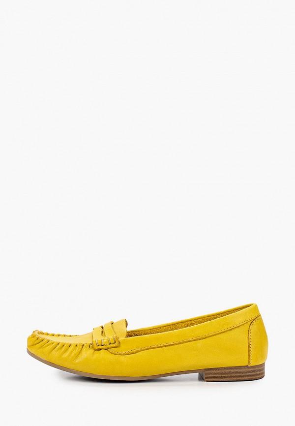 женские мокасины tamaris, желтые