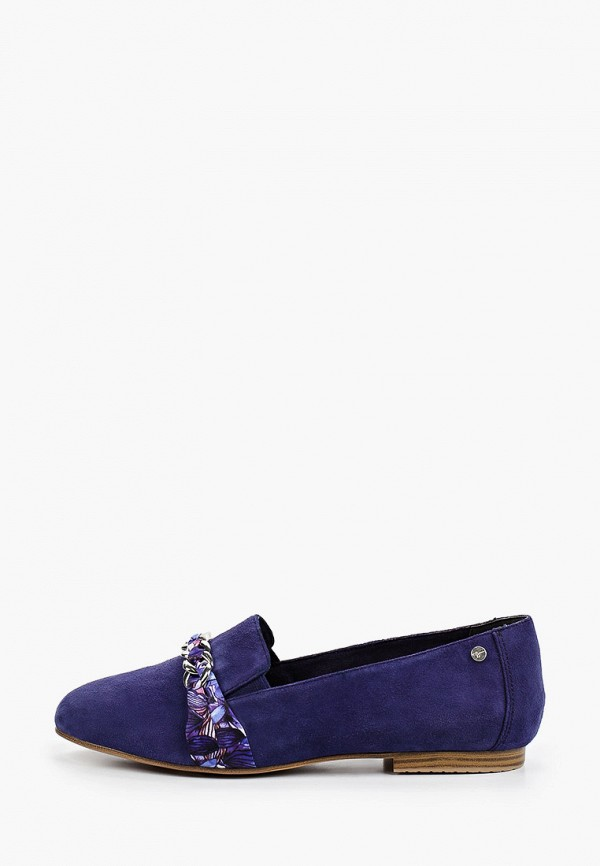 женские лоферы tamaris, синие