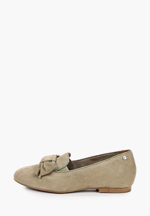 женские туфли с закрытым носом tamaris, хаки