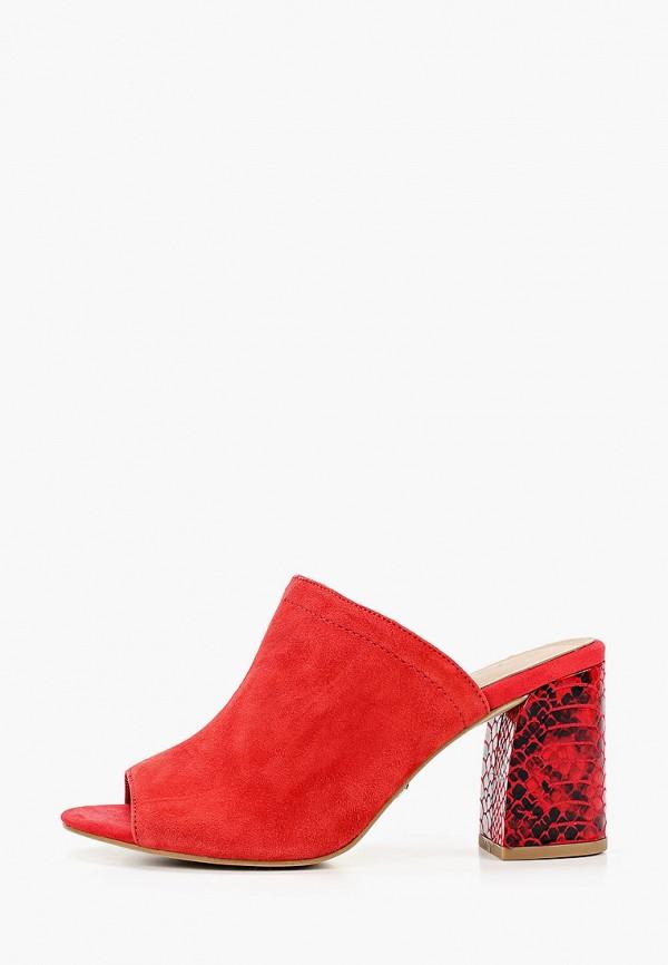 женское сабо tamaris, красное
