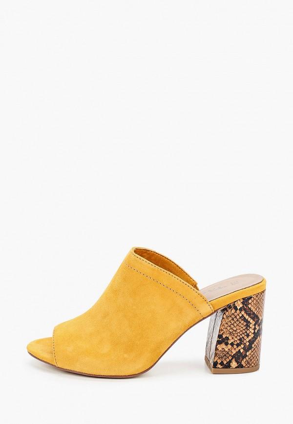 женское сабо tamaris, желтое