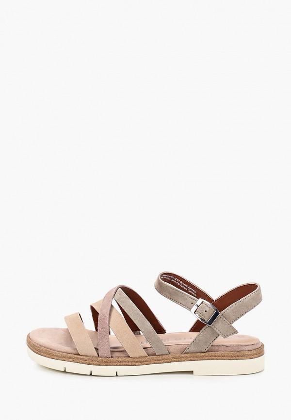 женские сандалии tamaris, бежевые