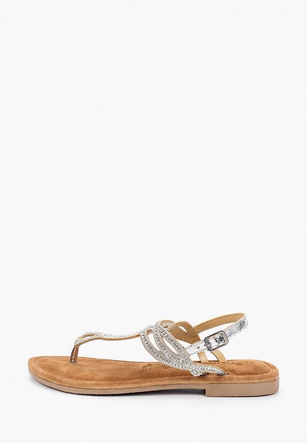 женские сандалии tamaris, серебряные
