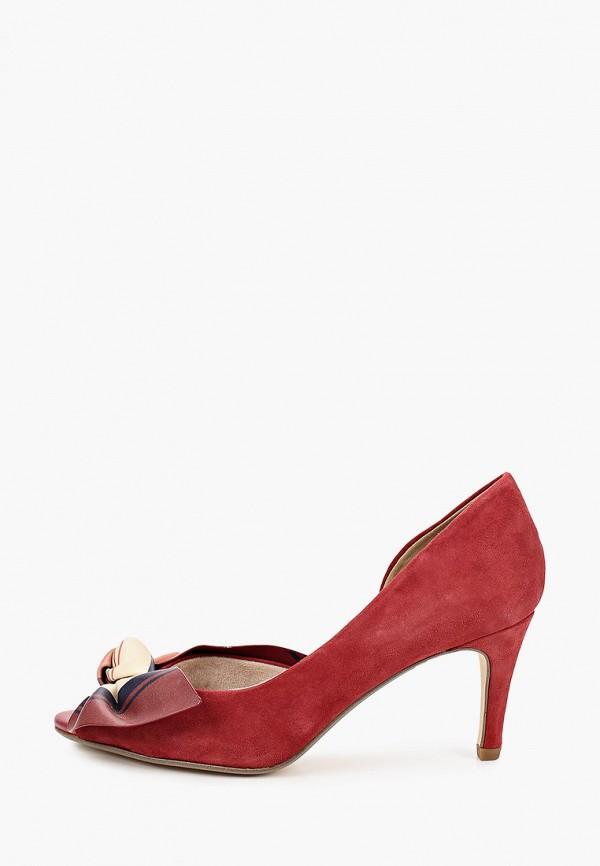 женские туфли с открытым носом tamaris, бордовые