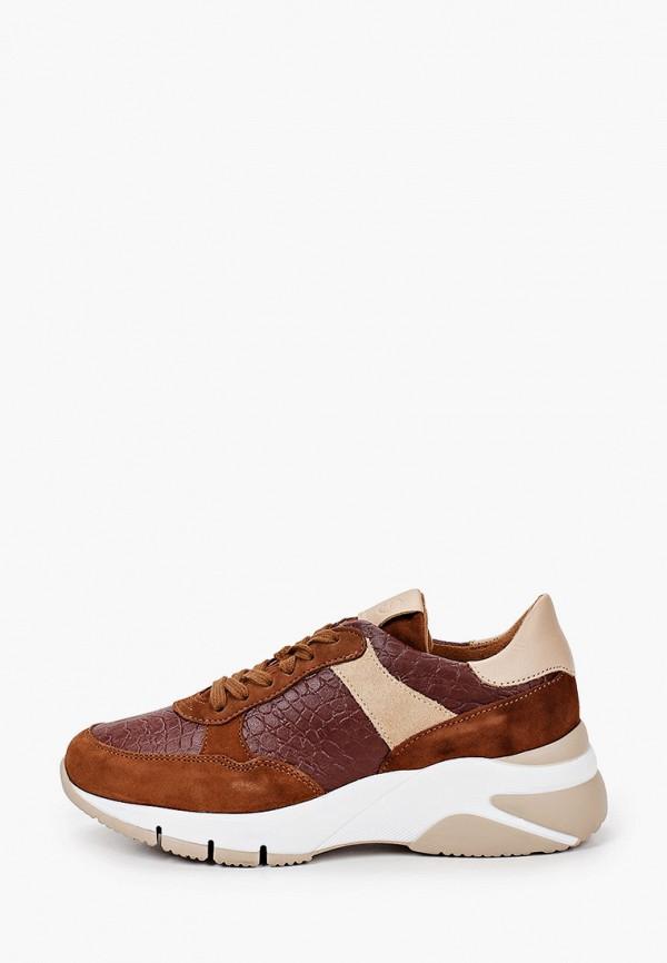 женские кроссовки tamaris, коричневые