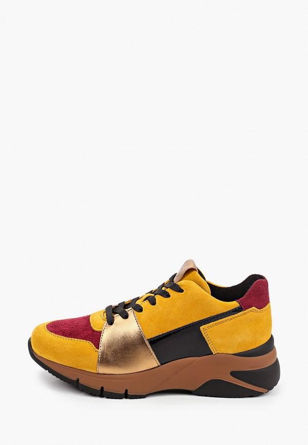 женские кроссовки tamaris, желтые