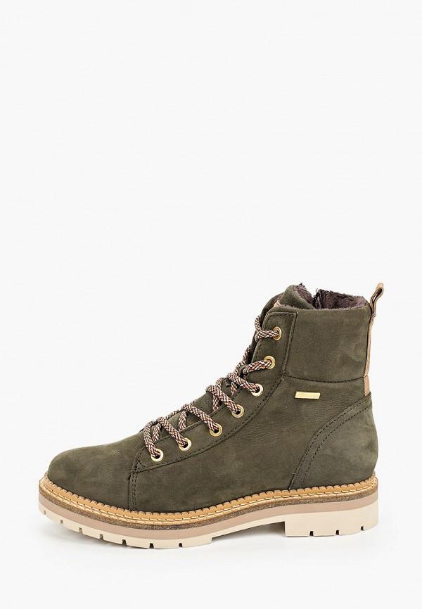 женские ботинки tamaris, зеленые