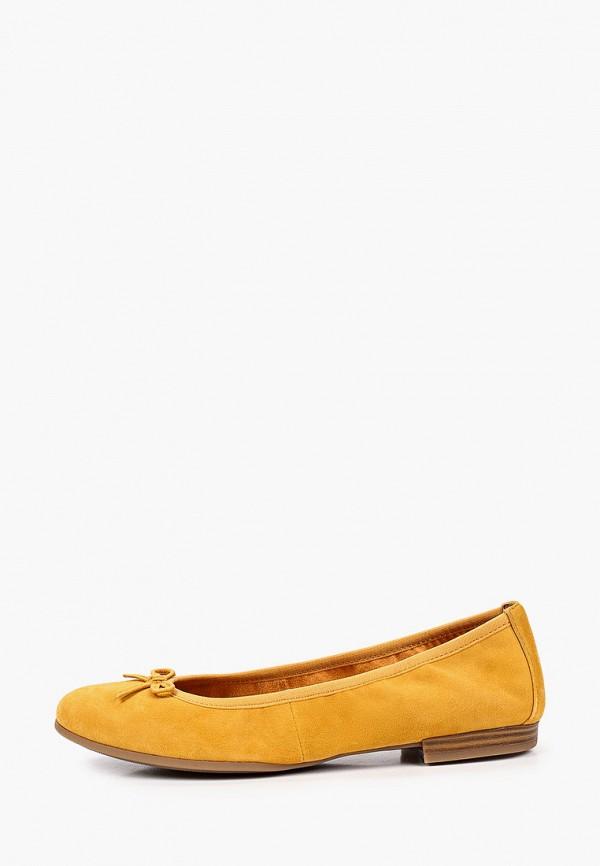 женские балетки tamaris, желтые
