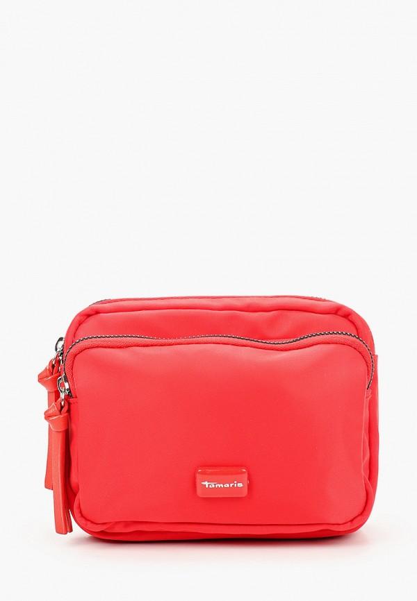 женская сумка tamaris, красная