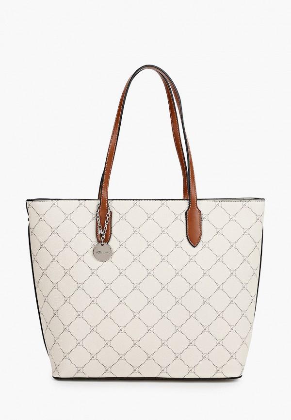 женская сумка-шоперы tamaris, бежевая