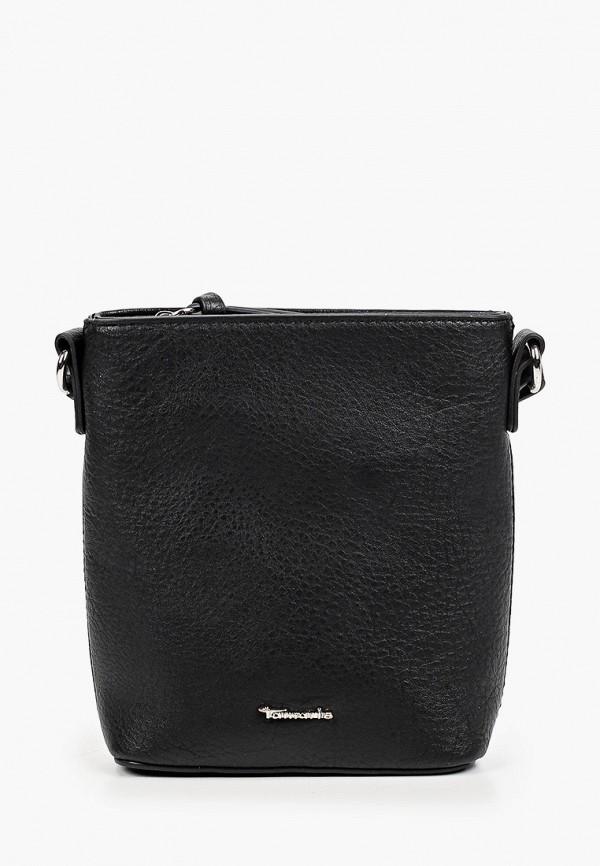 женская сумка через плечо tamaris, черная