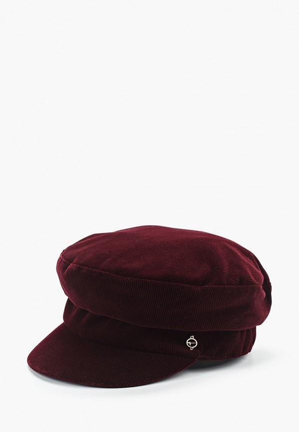 женская кепка tamaris, бордовая