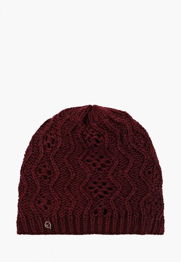 женская шапка tamaris, бордовая