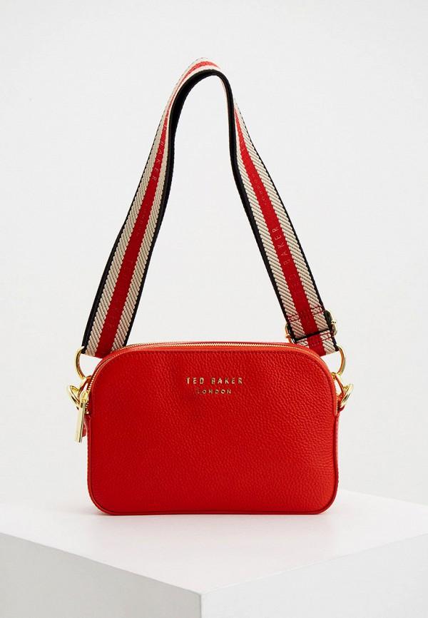 женская сумка ted baker london, красная