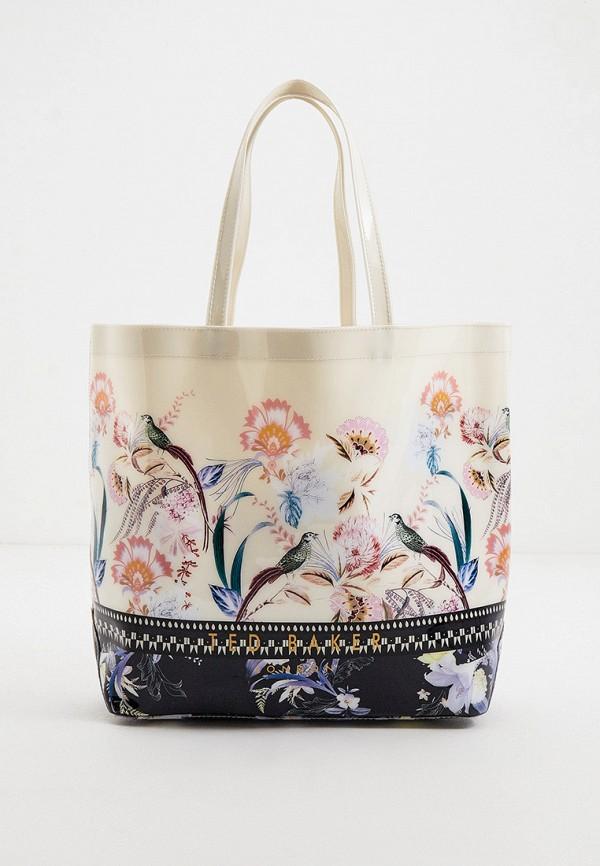 женская сумка-шоперы ted baker london, белая