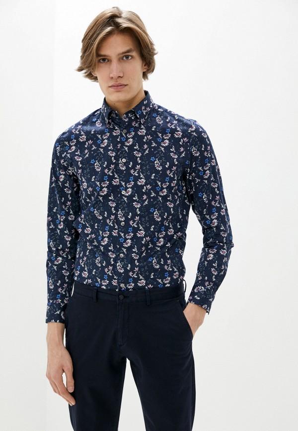 мужская рубашка с длинным рукавом ted baker london, синяя