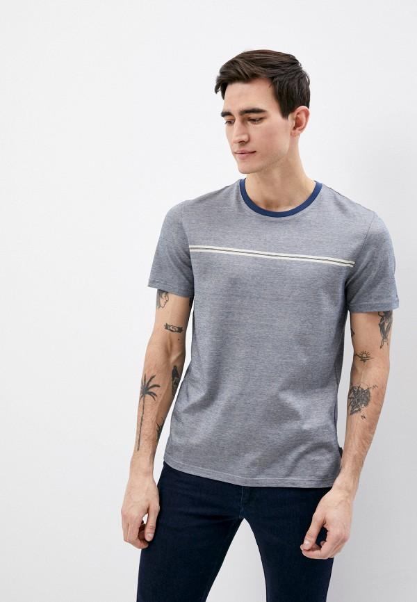 мужская футболка ted baker london, синяя