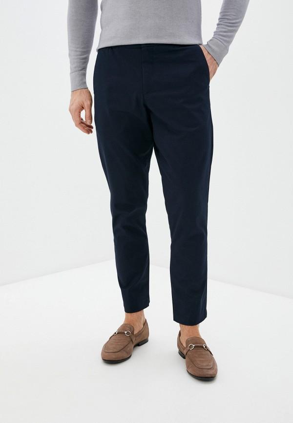 мужские зауженные брюки ted baker london, синие