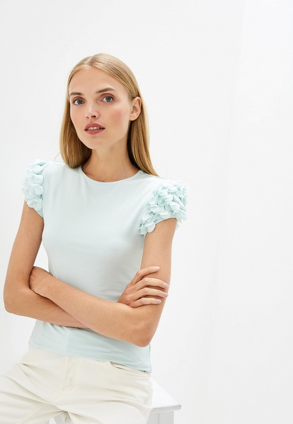 Фото - Женскую футболку Ted Baker London бирюзового цвета