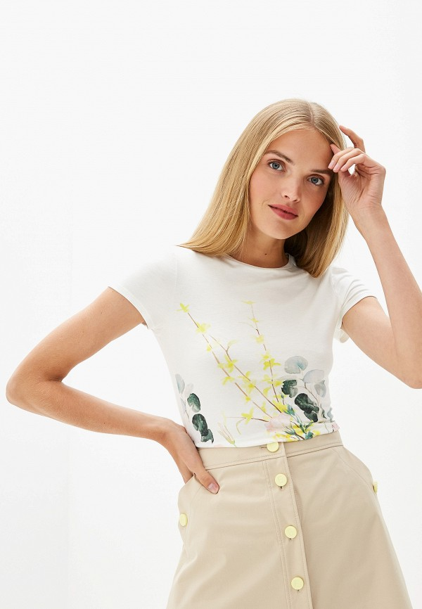 женская футболка ted baker london, белая