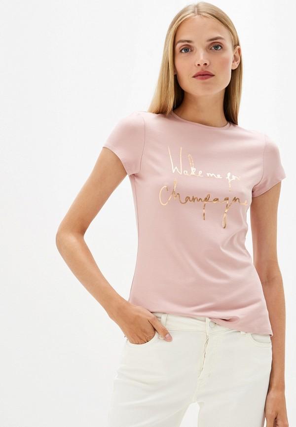 женская футболка ted baker london, розовая