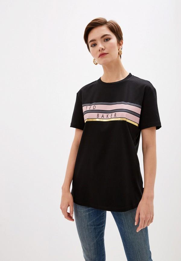 женская футболка ted baker london, черная