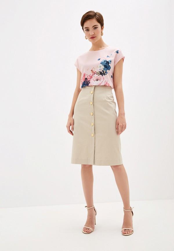 Фото 2 - Женскую футболку Ted Baker London розового цвета