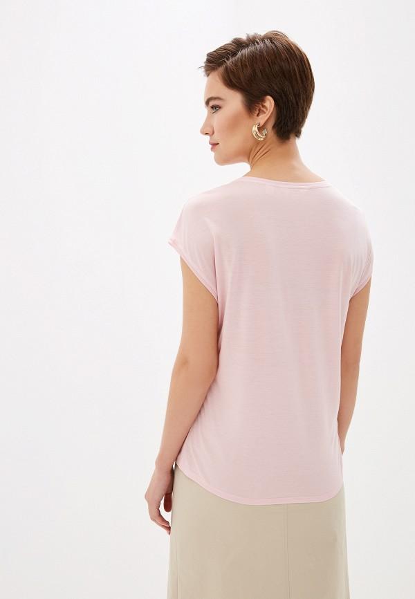 Фото 4 - Женскую футболку Ted Baker London розового цвета