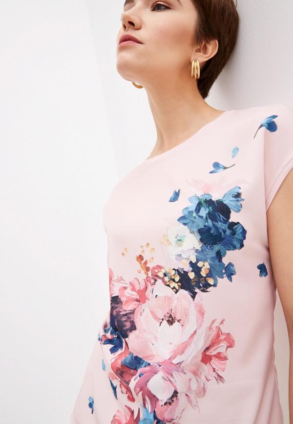 Фото 5 - Женскую футболку Ted Baker London розового цвета