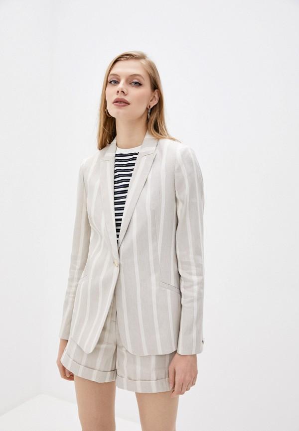 женский пиджак ted baker london, бежевый