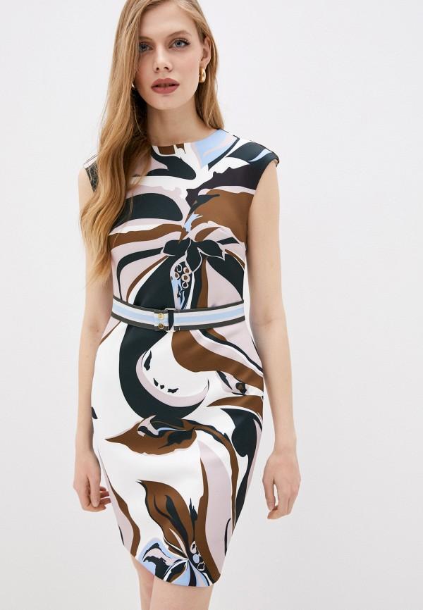 женское платье-футляр ted baker london, разноцветное
