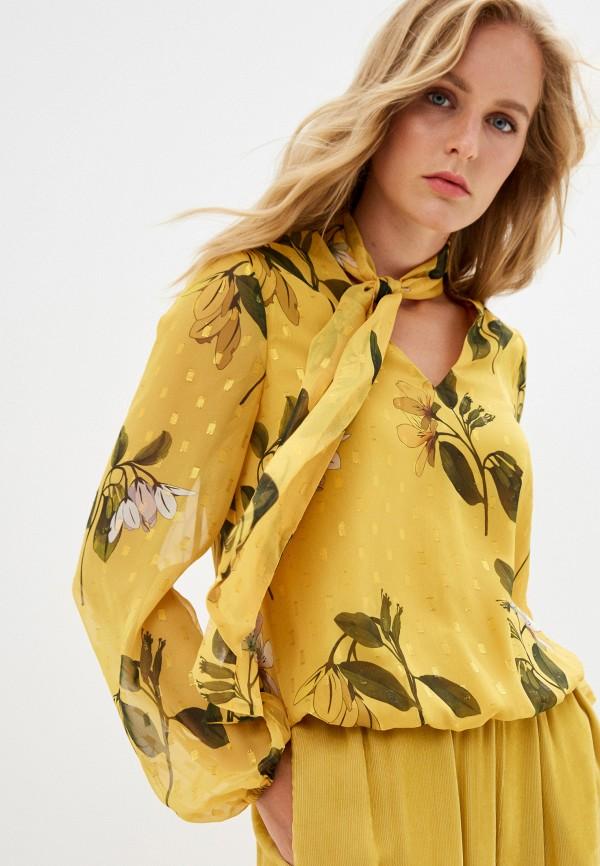 женская блузка ted baker london, желтая