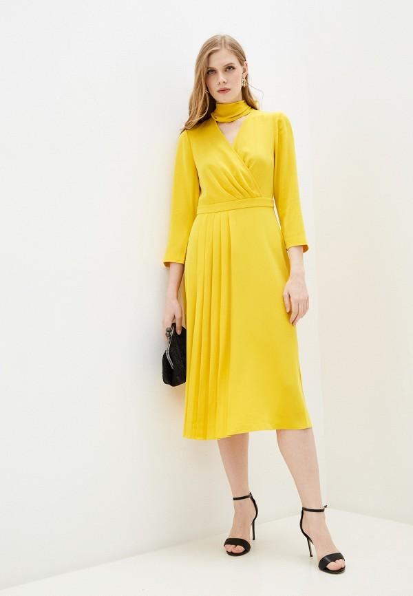 женское повседневные платье ted baker london, желтое